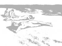 Julius Exter, Badende Jungen, 1882
